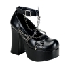 CHARADE-28 Black Faux Leather